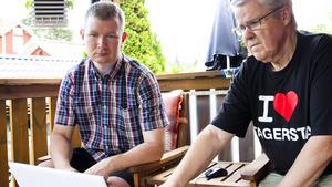 Mikael Ekenberg och Bjarne Lehto är två av dem som haft stora problem med internet och telefoni under juli månad.