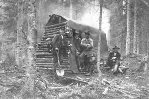 En kolarkoja någonstans i Venjansskogen.