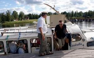 Kapten Per Ahlzén tackar sina passagerare för den här gången. FOTO: ANGELICA LINDVALL