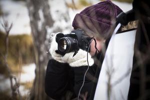 Fotografen Cecilia Feinstein plåtade med enkel uppsättning, en kamera och en blixt.