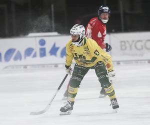 Daniel Skarps gjorde sitt 14:e mål för säsongen med kvitteringen på straff i första halvlek.