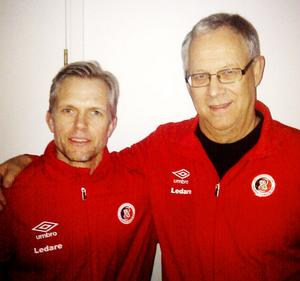 Janne Westin besökte Lars Lagerbäck i tisdags och fick en massa nyttiga tips.Foto: Henrik Åhnstrand