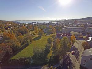 Så här blir det med utsikten från översta våningen hemma hos Mats-Ove Eriksson.