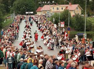 Hälsingehambon verkar ha gjort sitt. Här från målgången i Järvsö 1998.
