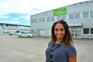 Katharina Engebo på Diös är mycket nöjd med att Sportsgym ska öppna ett stort gym i lokalen  (i bakgrunden skymtar Sundsvallsbron).