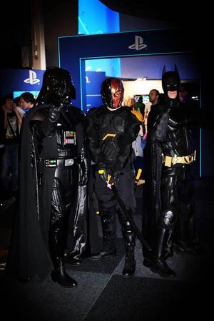 Filmkaraktärer och superhjältar vandrade sida vid sida på Comic con Gamex.