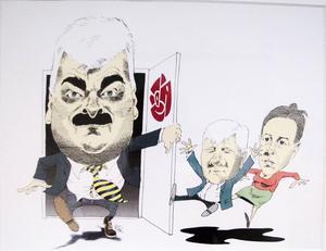 ...plus hans vassa politiska satirer, som alltid är en fröjd att se.