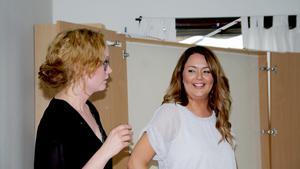Ledaren för veckan, Charlotta Strengbom, och entreprenören Louise Granström.