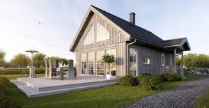 FA Works har också 3D-visualiserat villor åt företaget Hudikhus.