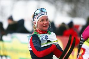 Elin Mohlin, Åsarna IK, slog till med en fjärdeplats i sprintfinalen i Bruksvallarna.