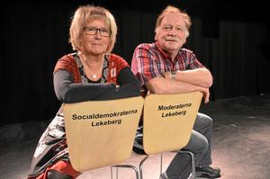 Gunilla Pihlblad (S) och Dag Stranneby (M) är med på torget måndag 26 maj.