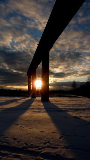 Solnedgång vid Mimerlaven i Norberg