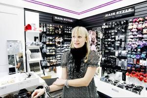 Enligt undersökningen är accessoarer något som lockar många tjuvar. Glitter i Mittpunkten Östersund, säljer accessoarer.