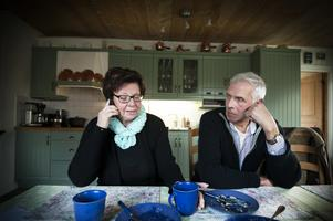 Leif Frestadius, här med sin fru Eivor. Bägge kommer att vara med på mötet tisdag kväll om det planerade vindkraftparken Bodhögarna.