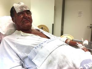 Anders Olsson, vd för och grundare av Cassandra oil, på sjukhuset efter explosionen som han själv orsakade.