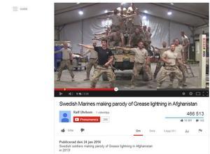 De dansande militärerna gör succé på Youtube med sin tolkning av