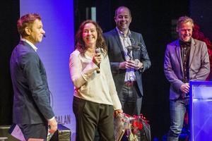 Priset som årets innovatör gick till Catharina Sundqvist som driver Child food factory.