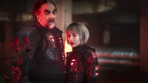 Rikard Wolff spelar den onde skurken Dr Ruben och Felice Jankell hans dotter. Pressbild.