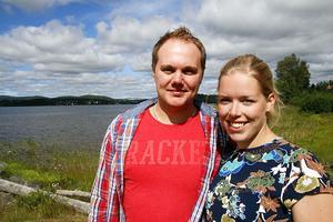 Simon Josefsson och Tove Liedgren har flugit tillsammans flera gånger förut, men måndagens flygning var den första över Höga kusten.