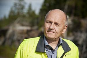 Projektledare Kjell Hägglund polisanmälde på tisdagen aktivisternas intrång.
