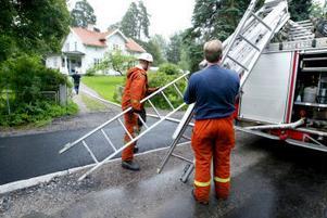 Räddningstjänsten kunde snabbt släcka den brinnande köksfläkten.