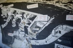 En plan för hur Mariaberget såg ut under det kalla krigets tid.