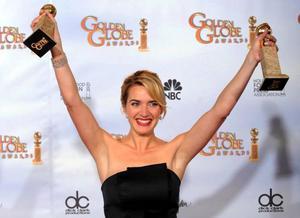 Kate Winslet vann två priser på Golden Globe-galan. Foto: Scanpix