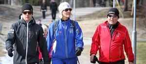 Bissen Larsson gick med Maria Sandgren och pappa Rolf.