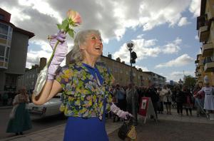 Margareta Erwald från Hög, Hudiksvall, hälsades välkommen som Hälsinglands Greta Garbo.