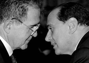 Prodi och Berlusconi – två typer av politiker.