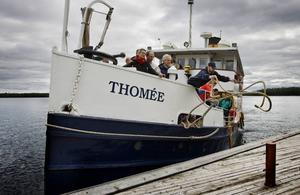 Thomée står just nu parkerad i Arvesund.