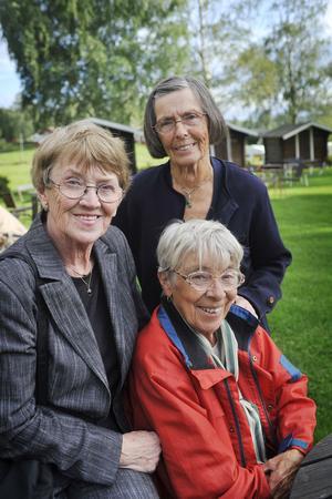 Den här trion var med när Bollnäs BB öppnade i slutet av fyrtiotalet, Vivan Sundberg, Gerda Perérs och Marianne Lindqvist.
