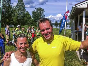 De två hemvändande Näsvikensborna Elin Larsson och Henrik Mattson som för övrigt gått i samma klass var snabbast i resp klass i lördagens Borgarlopp i Näsviken.