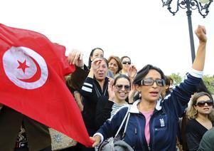 Den senaste tidens händelser i Nordafrika visar på vilken kraft det finns i kvinnors samhällsengagemang, skriver Karin Enström och Elilsabeth Björnsdotter Rahm.foto: Hassene Dridi, scanpix
