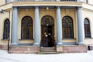 Den första banken i Gävle, och nästan i Sverige, hade ursprungligen bara en våning.