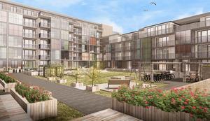 Kvarteret Pärlan ligger strax öster om det äldreboende som nu byggs. Byggstarten är planerad till första kvartalet nästa år och byggtiden beräknad till två år.