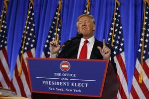 Snart svärs Donald Trump in som amerikas 45:e president.