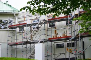 Även fasaden på Tonhallen kommer få ny färg under sommaren.