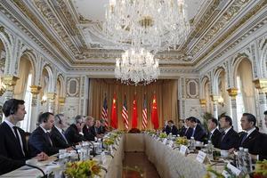 Donald Trump och Xi Jinping möttes 7 april i Palm Beach, Florida.