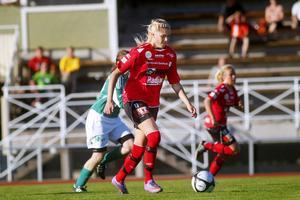 Maria Hagelberg låg bakom det mesta av Team Hudiks anfallsspel.