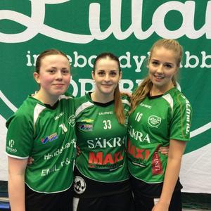 Målskyttar. Frida Damberg, Anna Nyman och Isabelle Berger nätade för Lillån.