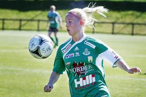 Moa Eriksson stod för sitt nionde seriemål mot Burträsk.