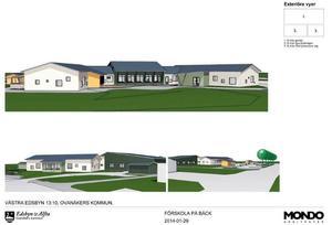 Kostnaden på 24,5 miljoner omfattar bygget, markåtgärder och vägar i anslutning till den nya förskolan.