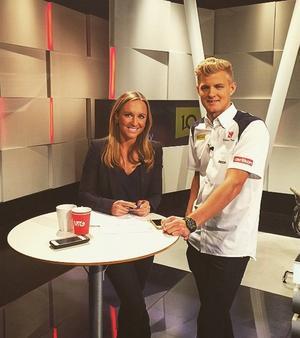Svenske Formel 1-föraren Marcus Ericsson själv var också på blixtbesök. Laddad för en bättre säsong än i fjol!