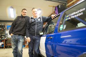 Nicklas Persson och Tommy Wikström gör sig redo för rallysäsongen.