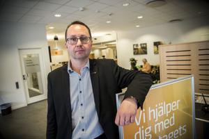 Thomas Larsson, kontorschef på Swedbank i Bollnäs-Edsbyn.