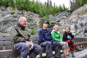 Norhallaprojektets eldsjälar, från vänster Janne Andersson, Bengt Hellstrand, Anneli Hellstrand och Eleanor Lundberg, ser med spänning fram emot premiärkonserten den 28 augusti.