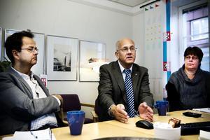 Hans Gyllow, planeringschef Hudiksvalls kommun, Björn Berg, Telias informationsdirektör, och Monica Olsson, kommunalråd Nordastigs kommun.
