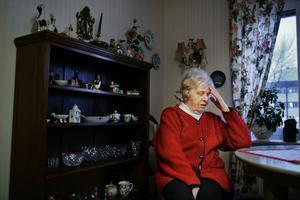 Rut Nylander, 86, är bedrövad efter den fräcka stölden i hennes lägenhet.