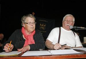 Sonia Larsson och Sven-Erik Jansson hade koll på tidtagningen och de rätta svaren.